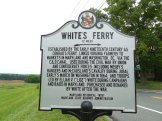 White's Ferry sign